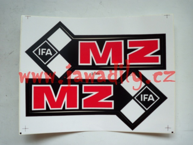 Samolepky na nádrž - MZ
