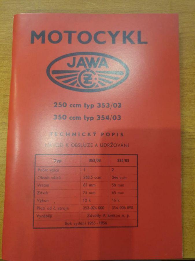 Návod na obsluhu Jawa 250-350- Kývačka
