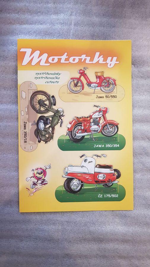 vystřihovánky motocykly ( Jawa, ČZ )