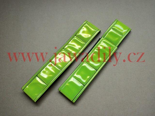 Bezpečnostní reflexní pásek na suchý zip - žlutý