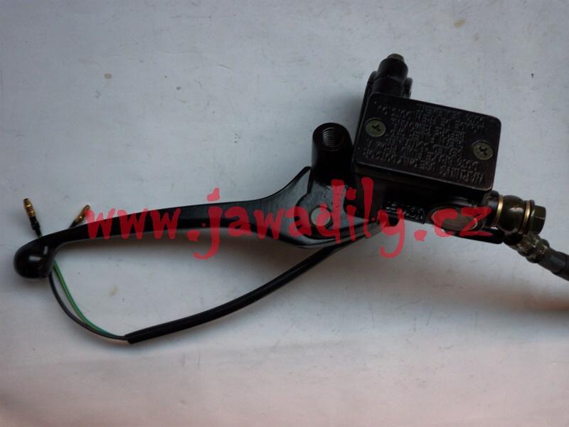 Brzdová pumpa včetně páčky a hadice - Jawa 350, MZ