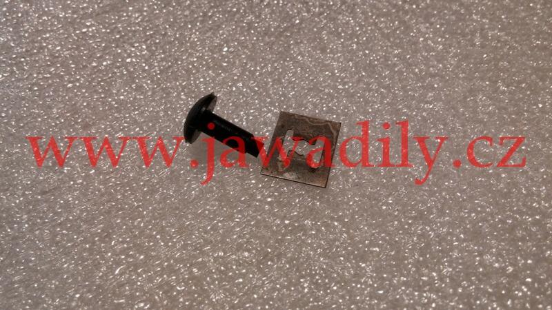 Čep+pojistka plexi štítu - Jawa 350/640