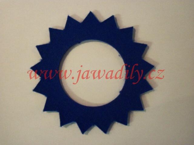 Filc pod víčko nádrže - hvězda (modrá)