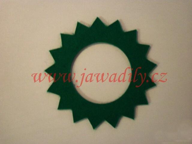 Filc pod víčko nádrže - hvězda (zelený)