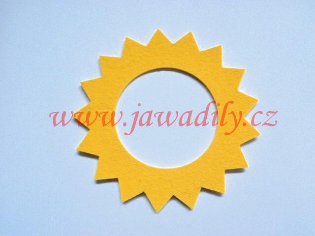 Filc pod víčko nádrže - hvězda (žlutý)