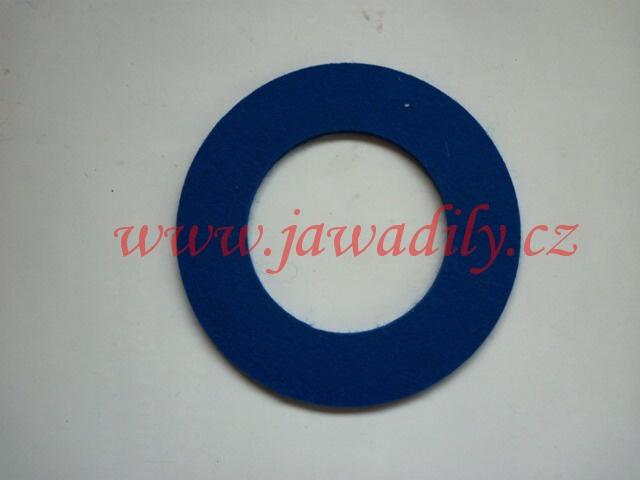 Filc pod víčko nádrže - kulatý (modrý)