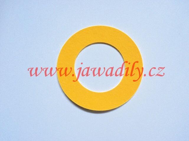 Filc pod víčko nádrže - kulatý (žlutý)