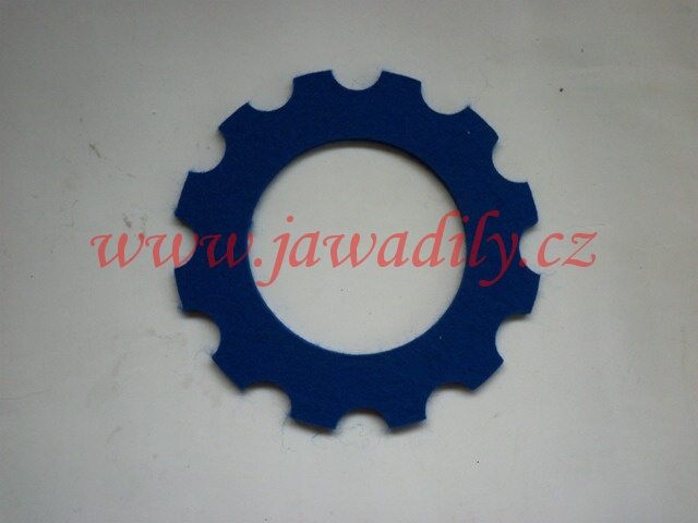 Filc pod víčko nádrže - oblouk (modrý)