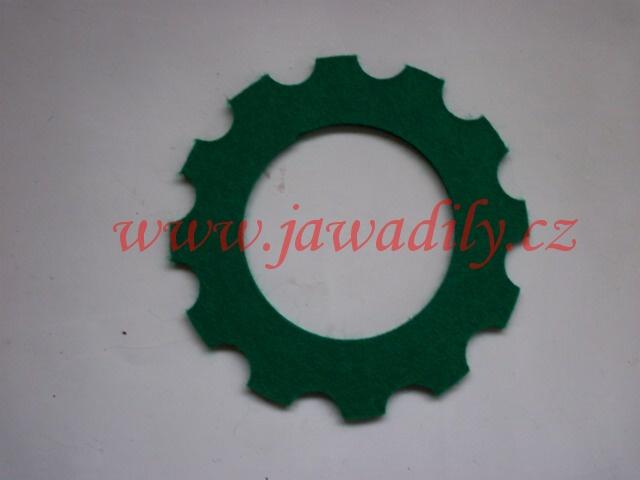 Filc pod víčko nádrže - oblouk (zelený)