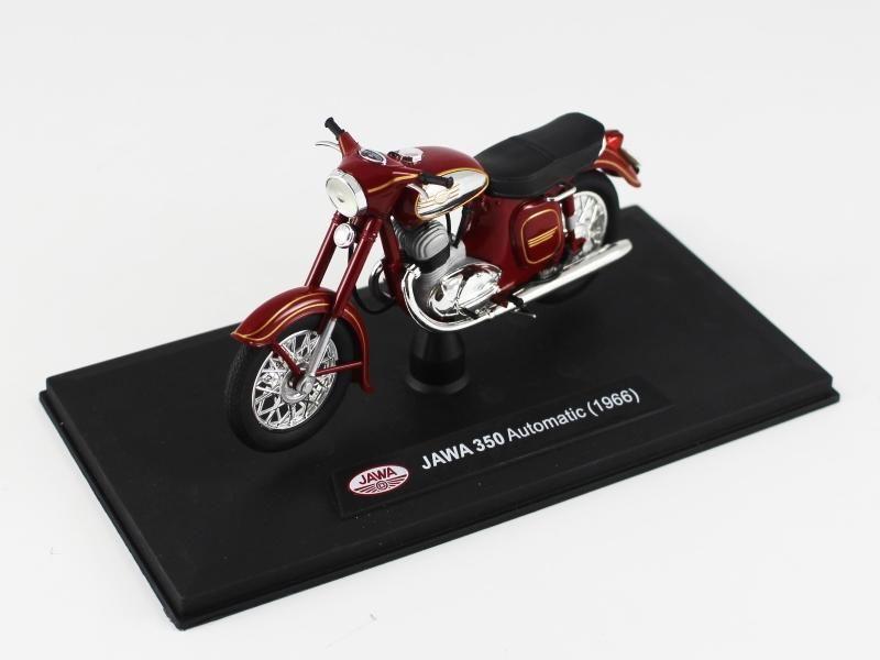 Jawa 350 Panelka Automatic (1966) 1:18 - Tmavě Červená