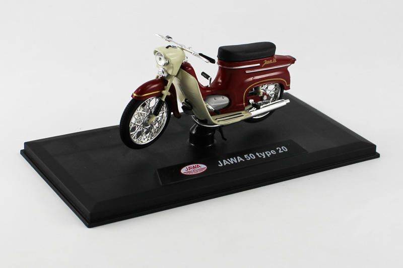 Jawa 50 Pionýr typ 20 (1967) 1:18 - Tmavě Červená