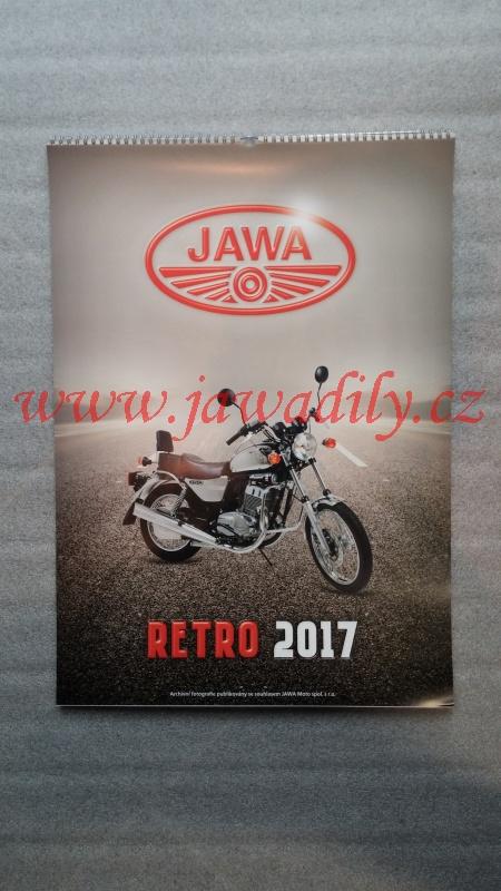 Kalendář 2017 - Jawa RETRO