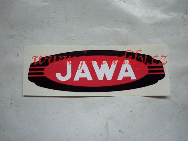 Nápis JAWA - červeno-černo-bílý - Californian