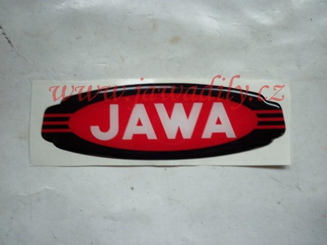 Logo JAWA - 3D červeno-černo-bílé