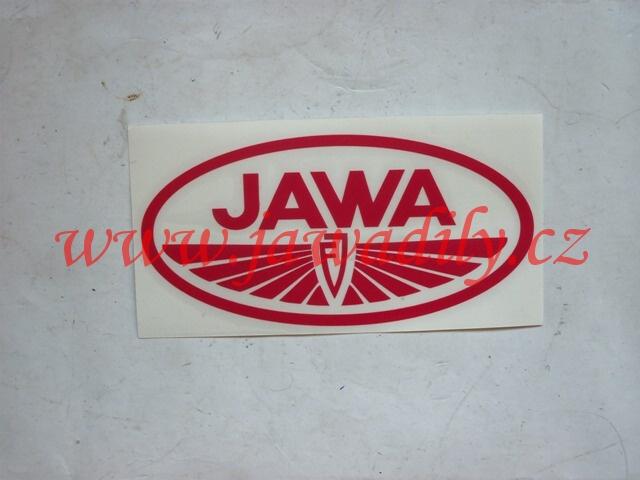Logo JAWA - Janeček, červená