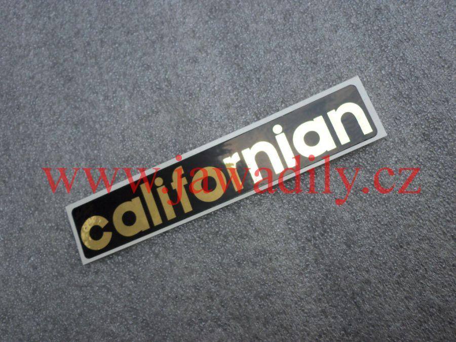 Nálepka Californian - zlatá