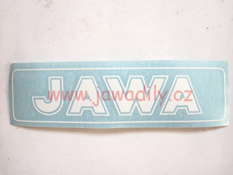Nápis JAWA - bílá