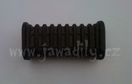 Návlečka zadní stupačky, hranatá - Jawa 350/638