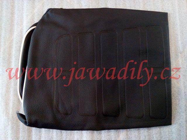 Potah sedla černo/bílý - Jawa 350/638-639