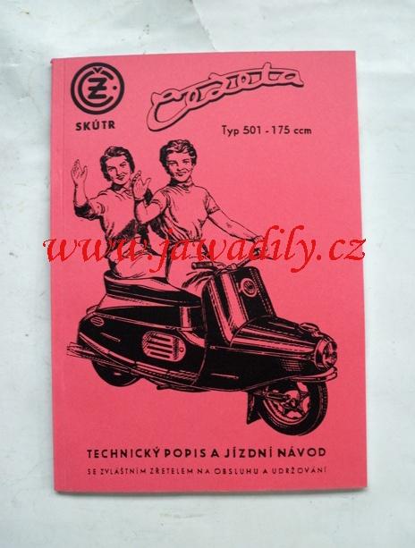 Technický popis a jízdní návod - ČZ 175/501 skútr