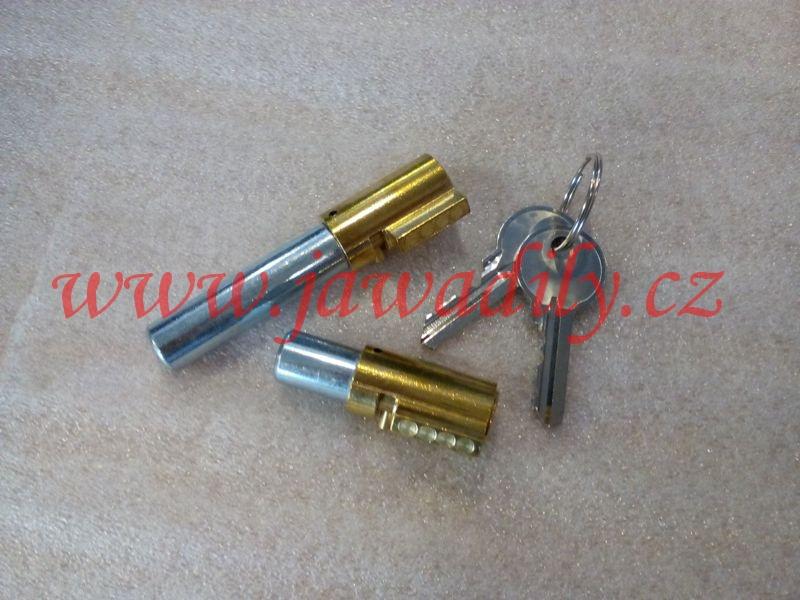 Zámek řízení + sedla, 2x klíč - Jawa 350/634-639