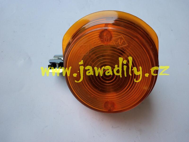 Blikač kulatý přední - Simson ( oranžové )