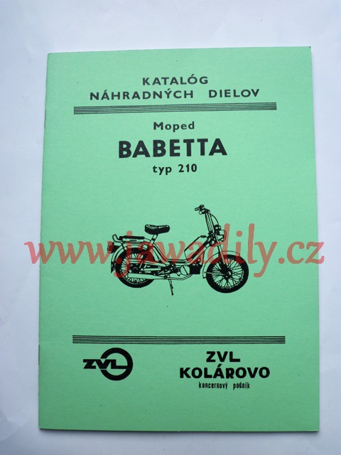 Katalog náhradních dílů - Babetta 210