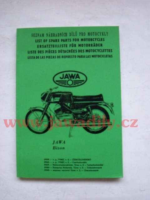 Katalog náhradních dílů - Jawa 250,350 Bizon