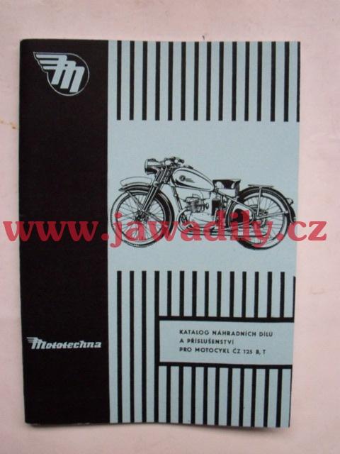 Katalog náhradních dílů - ČZ 125 B,T