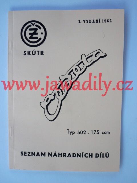 Katalog náhradních dílů - Skútr ČZ 175/502