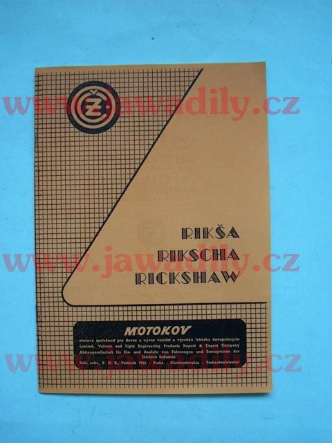 Katalog náhradních dílů - ČZ 150C Rikša