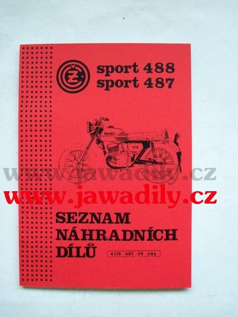 Katalog náhradních dílů - ČZ 125/488 a 175/487 Sport