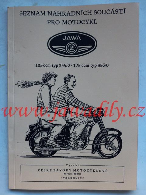 Katalog náhradních dílů - Jawa, ČZ 125/355 a 175/356