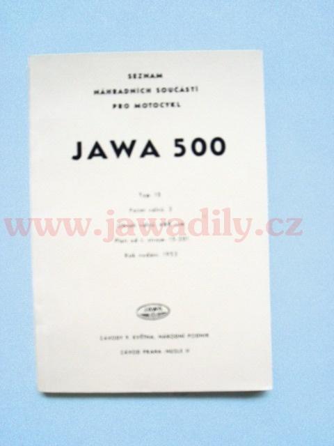Katalog náhradních dílů - Jawa 500/15