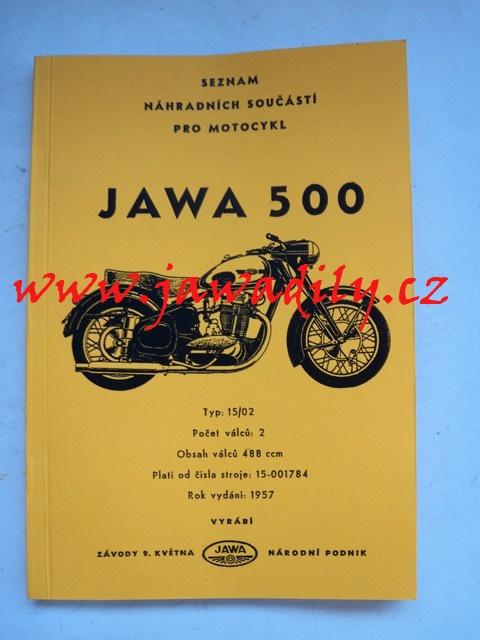 Katalog náhradních dílů - Jawa 500/15.02