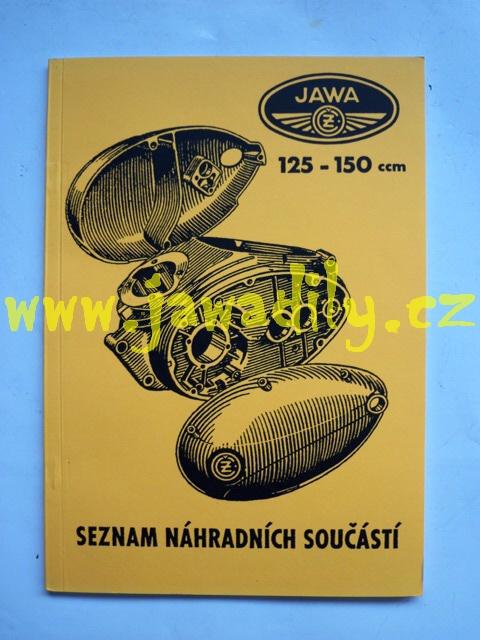 Katalog náhradních dílů - Jawa - ČZ 125 a 150 Mezityp