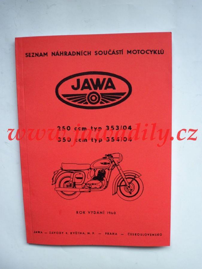 Katalog náhradních dílů - Jawa 250,350 Kývačka