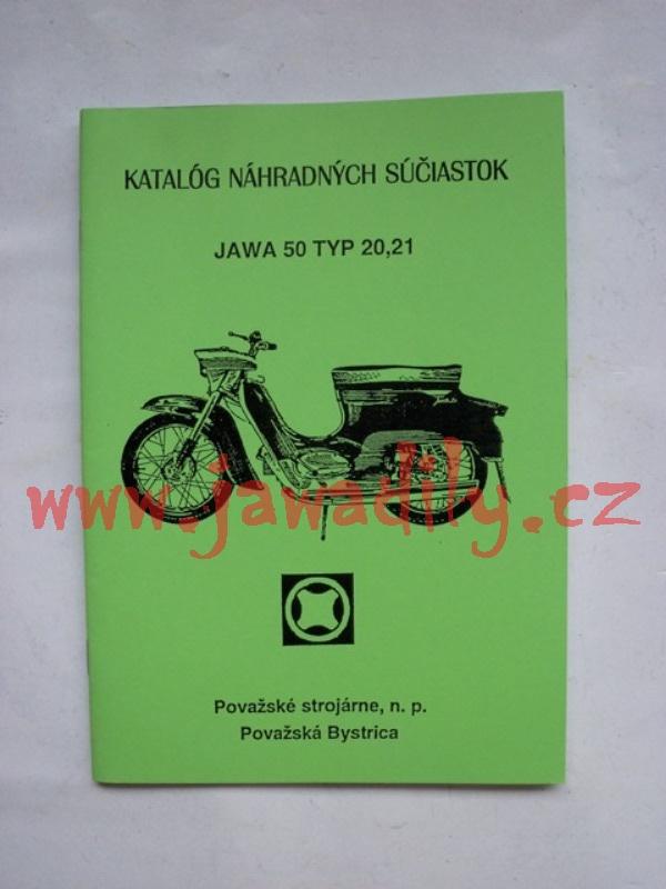 Katalog náhradních dílů - Pionýr typ 20,21