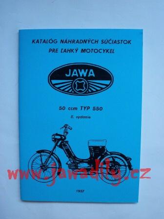 Katalog náhradních dílů - Pionýr typ 550