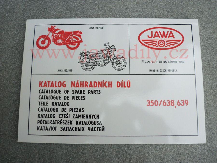 Katalog náhradních dílů - Jawa 350/638,639