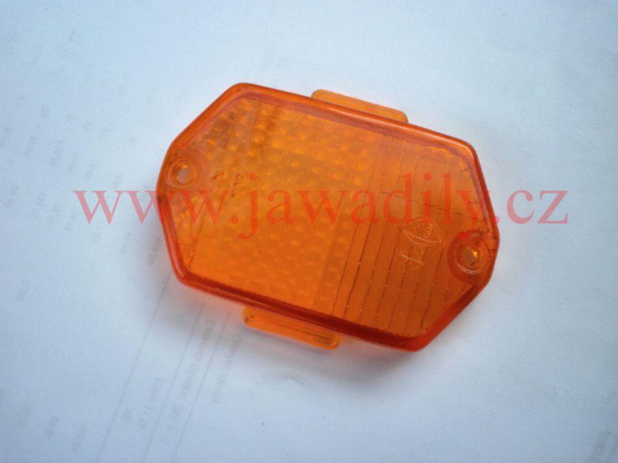 Kryt blikače přední hranatý - oranžový - Simson, MZ