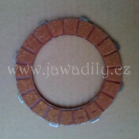 Spojková lamela (ferodo) - Jawa, ČZ - 125 a 175