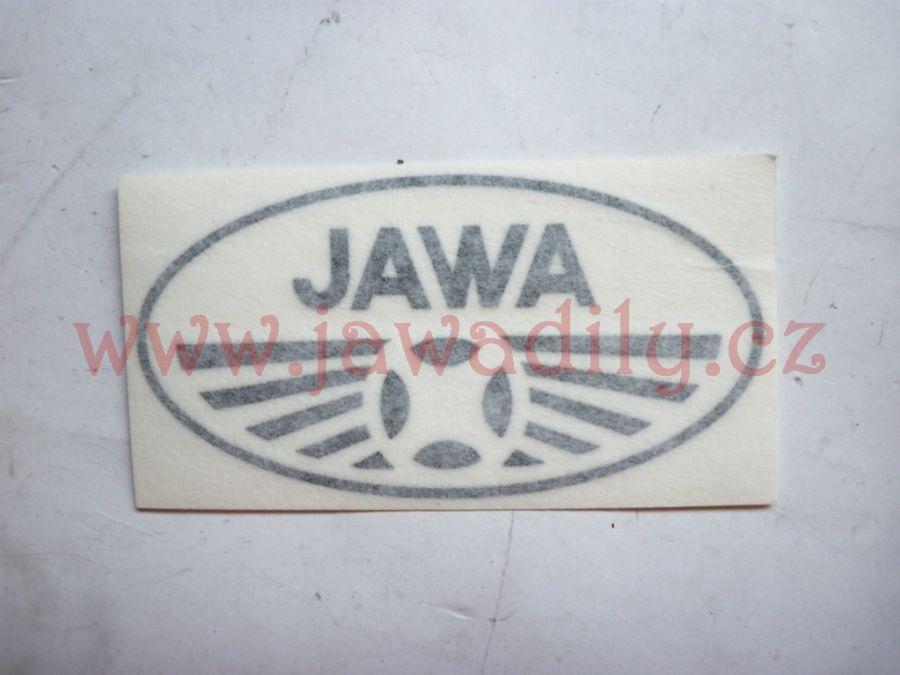 Logo JAWA Manet - černé
