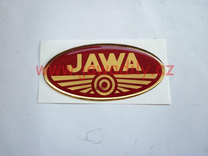 Logo JAWA - 3D červeno-zlaté