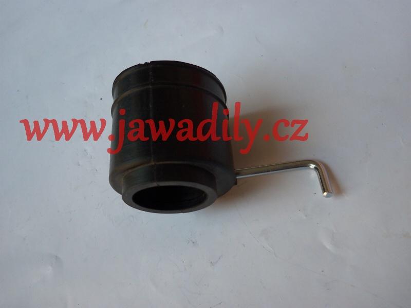 Gumová spojka sání s klapkou - Jawa - Kývačka, Panelka, California 250, 350