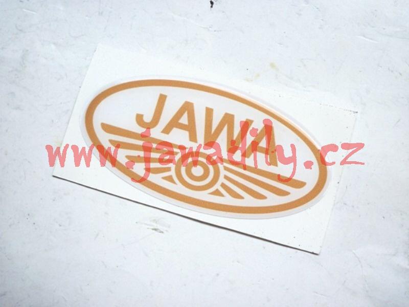 Logo JAWA - 3D bílo-zlaté