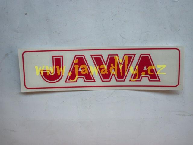 Nápis JAWA - červená