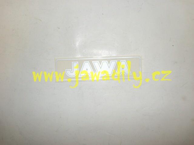 Nápis JAWA - stříbrná