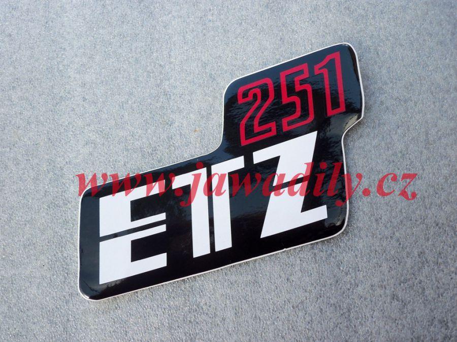 Samolepka na boční schránku - MZ 251 ETZ