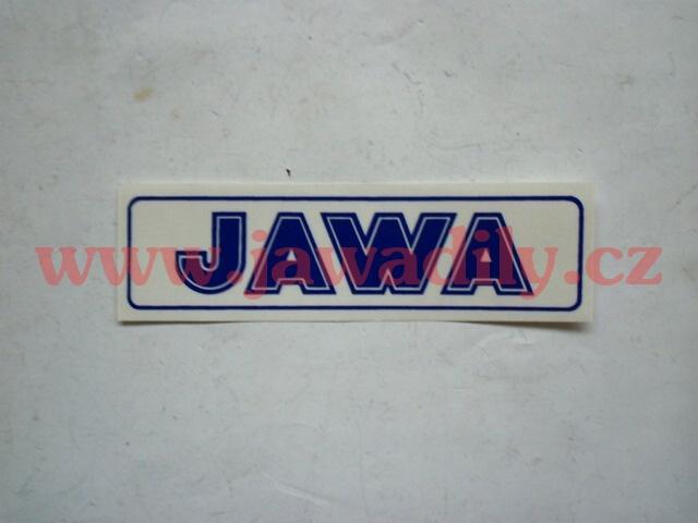 Nápis JAWA - modrá